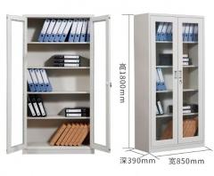 鋼櫃 85x39x180cm 5格雙開玻璃門