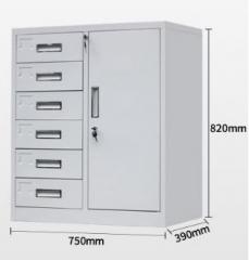 鋼櫃 多功能矮櫃 6斗單開