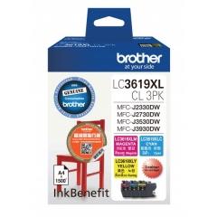 Brother LC3619XLCL3PK (原裝)(高容量)彩色墨盒套裝
