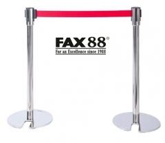 FAX88 拉帶排隊欄杆 不綉鋼配2米拉帶