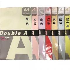 A4  DOUBLE A 顏色影印紙 綠色 100G
