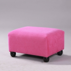 布藝沙發凳腳凳 玫紅絨布