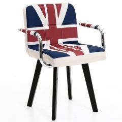 A100 書房椅/電腦椅/辦公椅 實木布藝#114669 米字旗