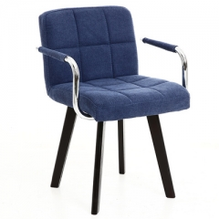 A100 書房椅/電腦椅/辦公椅 實木布藝#114669 普藍