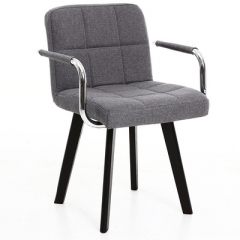 A100 書房椅/電腦椅/辦公椅 實木布藝#114669 灰色