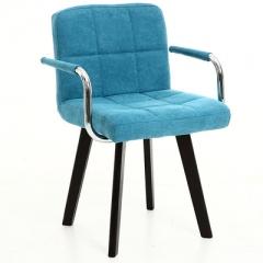 A100 書房椅/電腦椅/辦公椅 實木布藝#114669 湖水藍