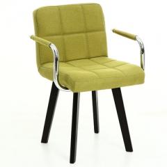A100 書房椅/電腦椅/辦公椅 實木布藝#114669 草綠色