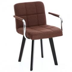 A100 書房椅/電腦椅/辦公椅 實木布藝#114669 咖啡色