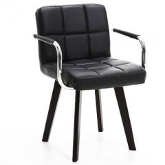 A100 書房椅/電腦椅/辦公椅 實木布藝#114669 黑色PU