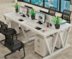 FAX88  EW808W 新潮辦公桌/推櫃組合 單人位(不含櫃)