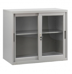移門鋼櫃 多功能矮櫃 H750xW900xD450mm玻璃門