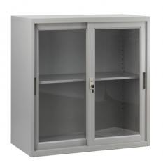 移門鋼櫃 多功能矮櫃 H920xW900xD450mm玻璃門