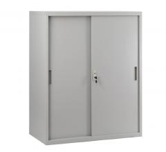 移門鋼櫃 多功能矮櫃 鋼櫃 文件櫃 組合櫃 H109xW80xD40cm