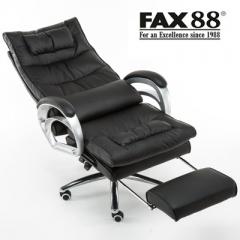 FAX88 辦公椅 老闆椅 大班椅 170度可躺/按摩 #112456黑色按摩可躺+擱腳
