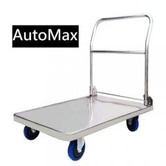 AutoMax 不銹鋼平板手推車 60x89cm  5寸車輪