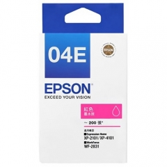 EPSON T04E 原裝墨盒 C13T04E383 洋紅色200頁