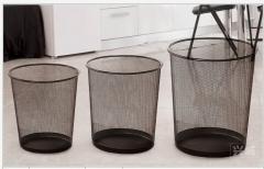 辦公室時尚金屬網垃圾桶 細 24 x 26 cm