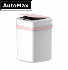 AutoMax 非接髑 智能 感應垃圾桶 AL1101 粉紅配白 10L