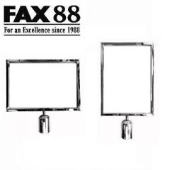 FAX88 拉帶排隊欄杆拉帶柱A4插牌 A3 直身 不綉鋼