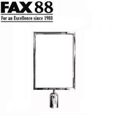 FAX88 拉帶排隊欄杆拉帶柱A4插牌 A4直身