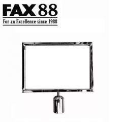 FAX88 拉帶排隊欄杆拉帶柱A4插牌 A4橫身