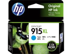 HP 915XL 原裝高容量墨盒 915XL Cyan 825頁