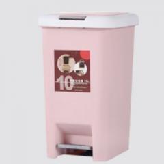 AutoMax 日本時尚腳踏式垃圾桶 10L 粉紅色