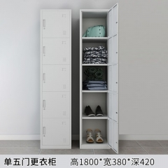 A100 儲物櫃 更衣櫃 單行直立有鎖 單行5門