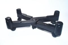 主機架 機箱支架  帶輪可移動 黑色