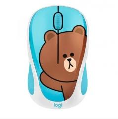 Logitech Line Friends Mouse 無線滑鼠 Brown無線滑鼠
