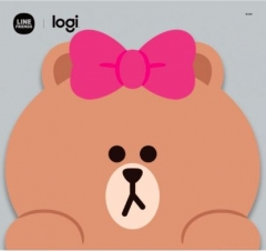 Logitech Line Friends Mouse 無線滑鼠 Choco滑鼠墊
