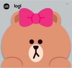 Logitech Line Friends Mouse 無線滑鼠 Choco滑鼠墊