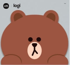 Logitech Line Friends Mouse 無線滑鼠 Brown滑鼠墊