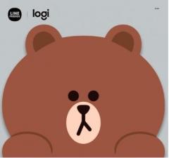 Logitech Line Friends Mouse 無線滑鼠 Brown滑鼠墊