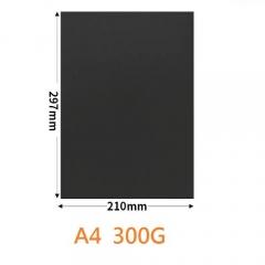A4 300G 黑色咭紙 卡紙 100張