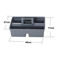 塑膠手提清潔 工具籃 雜物籃 (三格) 40x27x17cm