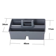 塑膠手提清潔 工具籃 雜物籃 (三格) 40x34x17cm