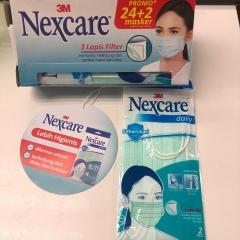 3M Nexcare 三層外科口罩(2個包裝售價$20)