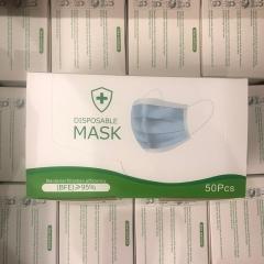 DPM 3層成人口罩  3Ply Mask CE認證 藍色50個裝