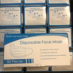 NT Bluebox 3層成人口罩 3Ply Mask CE認證 成人50個裝
