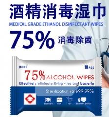 75% 酒精濕巾 殺菌免洗酒精濕紙巾 250包起