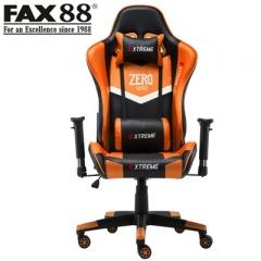 (母親節特價)FAX88 Zero系列 L9600 跑車椅 電競椅 (送頭枕 腰墊) 橙黑色
