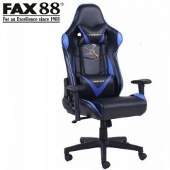 FAX88 Runners系列 S8300 跑車椅 電競椅 (送頭枕 腰墊) 藍配黑