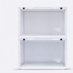 ShoeBox 防氧化鞋盒 鞋柜  36x28cmx22cm自由組合 牛奶白色 1個組合