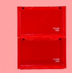 ShoeBox 防氧化鞋盒 鞋柜  36x28cmx22cm自由組合 紅色 1個組合