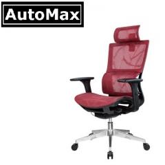 AutoMax 行政人員椅 中背椅 電腦椅 紅色 尼龍腳