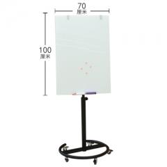 A100 白色支架玻璃白板 鋁邊玻璃白磁板 70x100cm