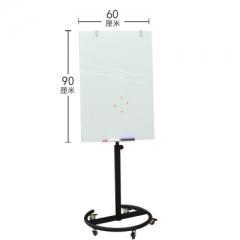 A100 白色支架玻璃白板 鋁邊玻璃白磁板 60x90cm