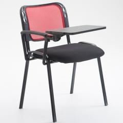 會議椅 培訓椅  折叠椅 會議室椅 紅色+寫字板 1張