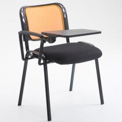 會議椅 培訓椅  折叠椅 會議室椅 橙色+寫字板 1張